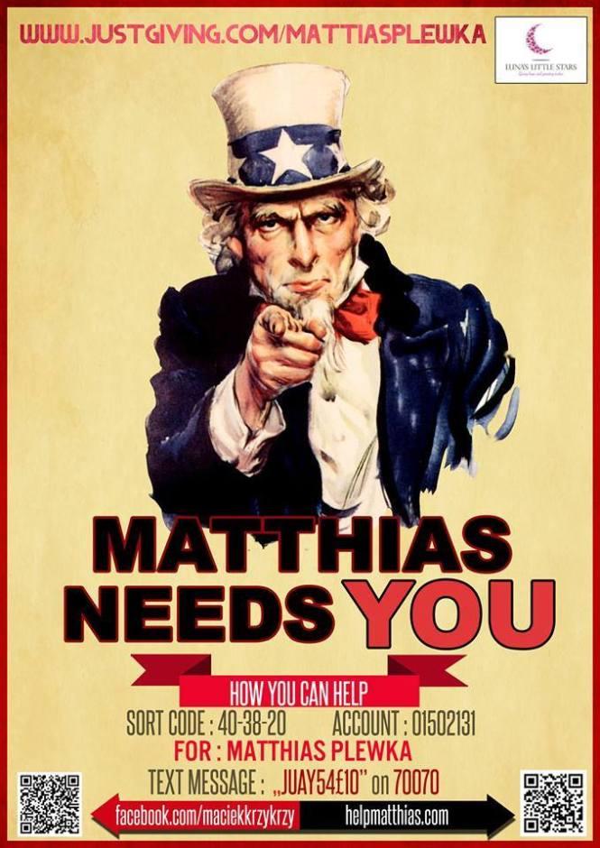 Matthias needs you